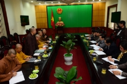 In Ninh Binh: VESAK 2014 Organization Board had a meeting with Ninh Binh People's Committee